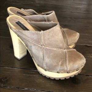 Steven by Steve Madden Leather Clog Stud Mules 9